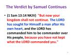 the verdict by samuel continues
