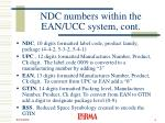 ndc numbers within the ean ucc system cont
