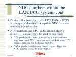 ndc numbers within the ean ucc system cont5
