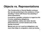 objects vs representations