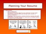planning your resume5