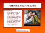 planning your resume6
