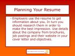 planning your resume7
