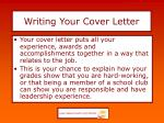 writing your cover letter