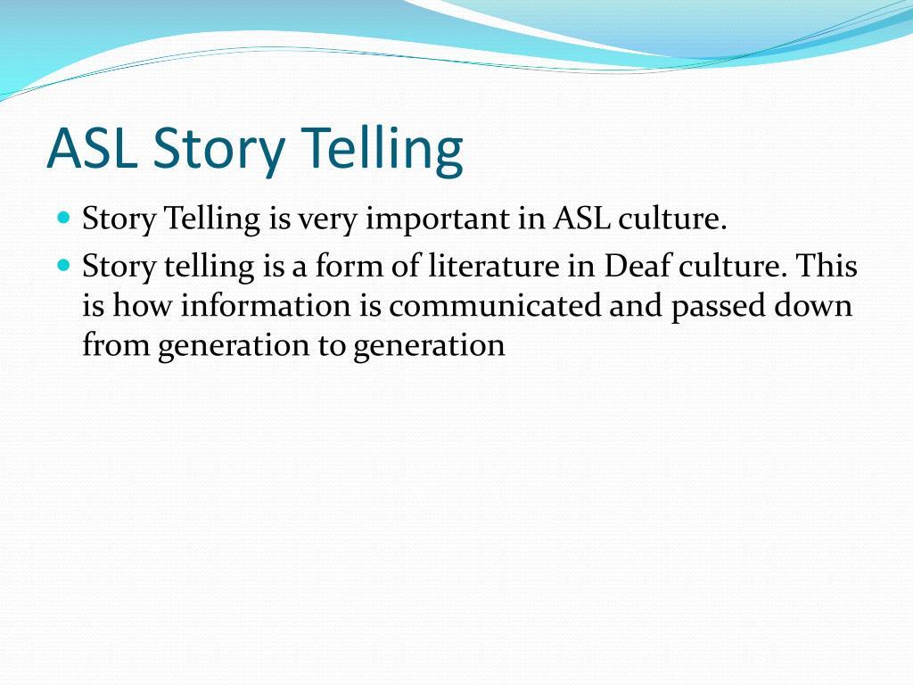 ASL Story Telling