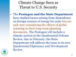 climate change seen as threat to u s security