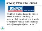 growing interest by utilities