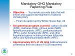mandatory ghg mandatory reporting rule