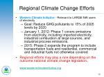 regional climate change efforts