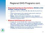 regional ghg programs cont
