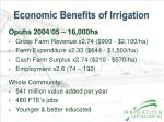 economic benefits of irrigation
