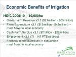 economic benefits of irrigation1
