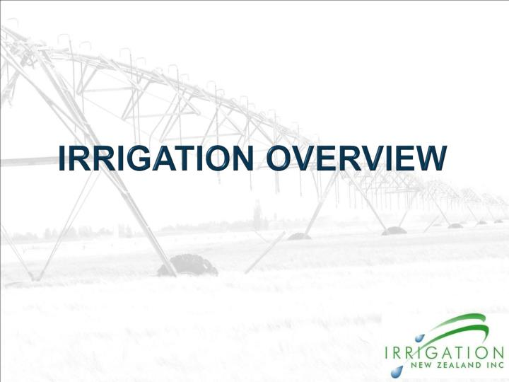 irrigation overview n.