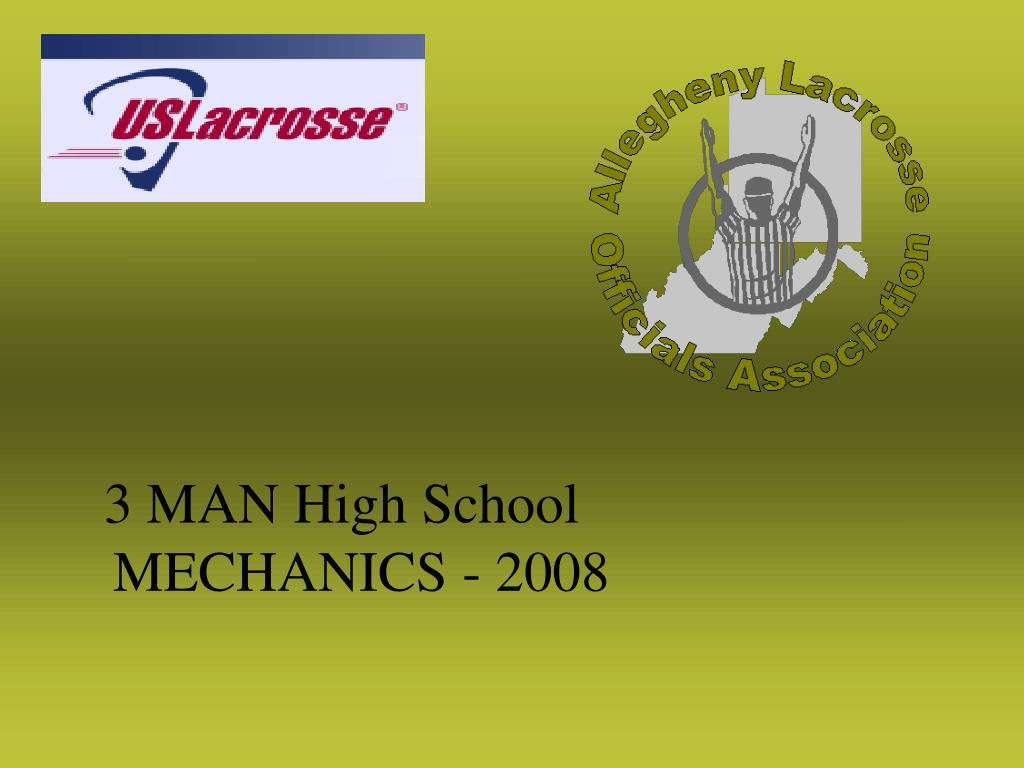 3 MAN High School MECHANICS - 2008