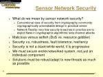 sensor network security