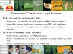 conventional corn growers legal response