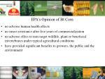 epa s opinion of bt corn