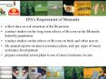 epa s requirement of monsanto