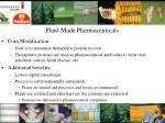 plant made pharmaceuticals