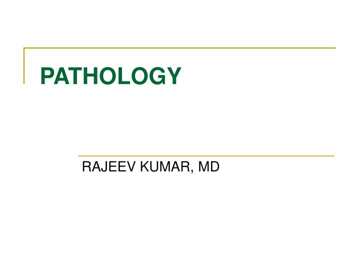 pathology n.