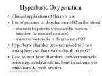 hyperbaric oxygenation