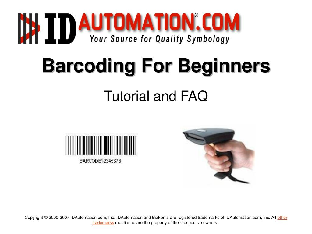 barcoding for beginners l.