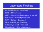 laboratory findings