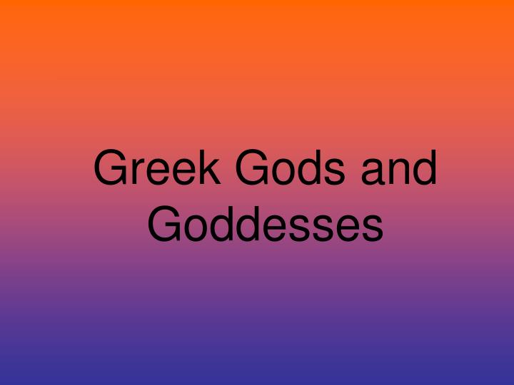 greek gods and goddesses n.