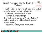 special measures and the treaty of waitangi