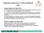 special measures in new zealand law