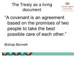 the treaty as a living document