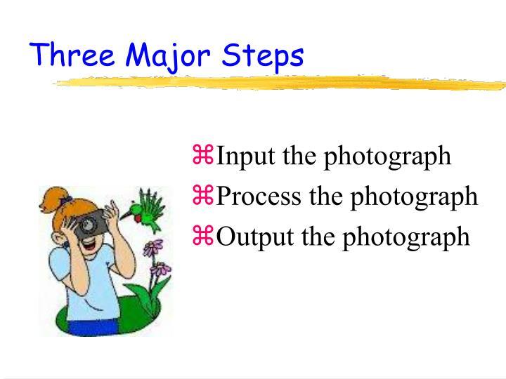 Three major steps