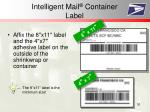 intelligent mail container label