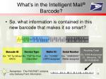 what s in the intelligent mail barcode