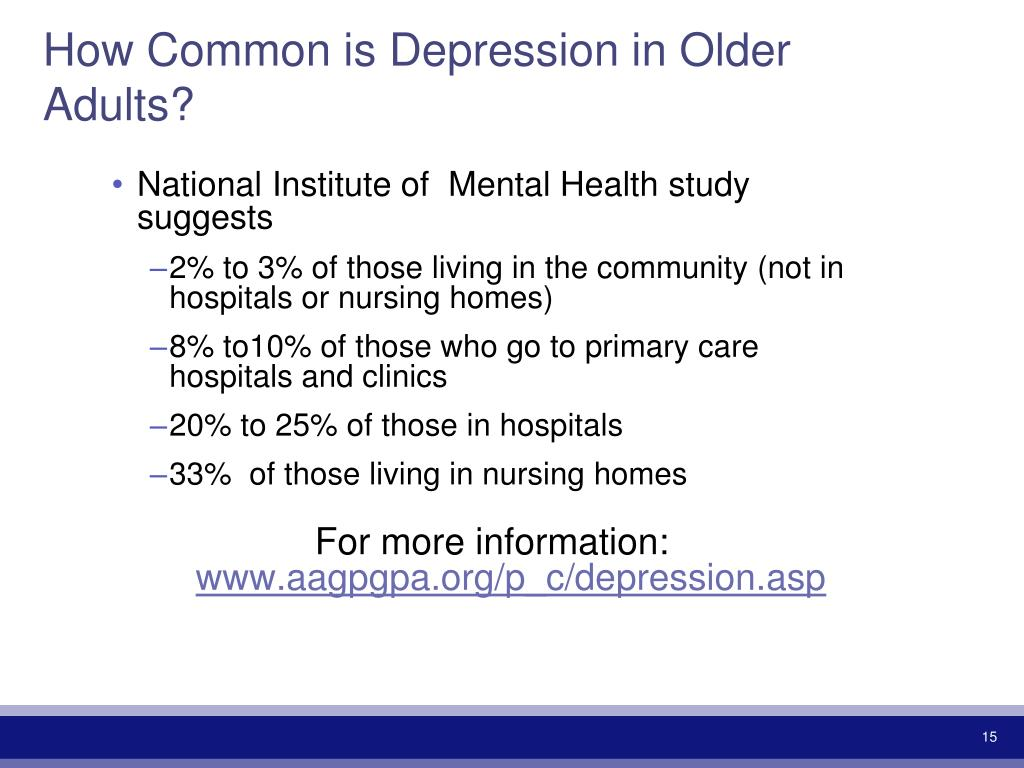 How Common is Depression in Older Adults?