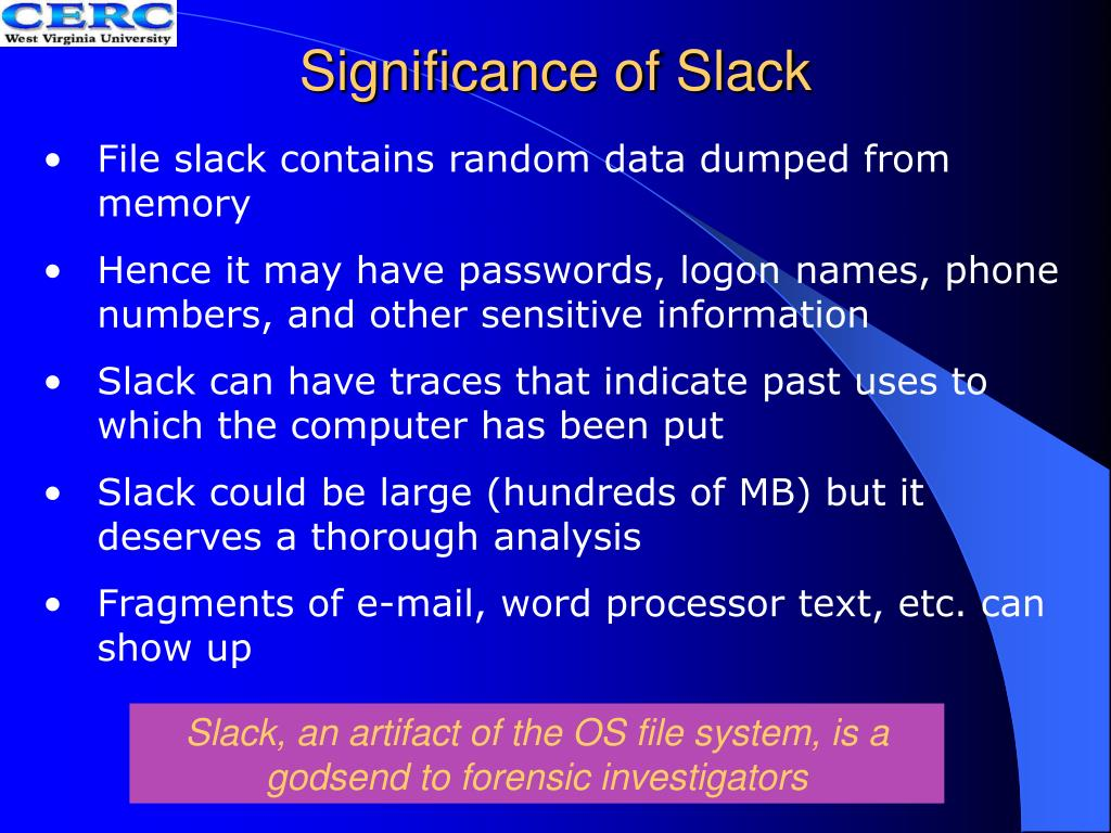 Significance of Slack