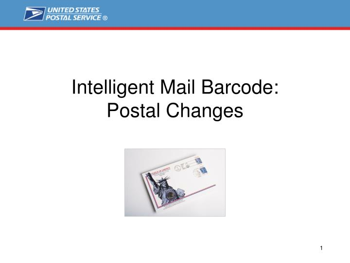 intelligent mail barcode postal changes n.