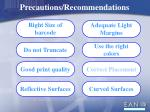 precautions recommendations