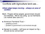 conflicts with agriculture land use