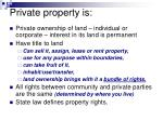 private property is