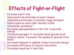 effects of fight or flight