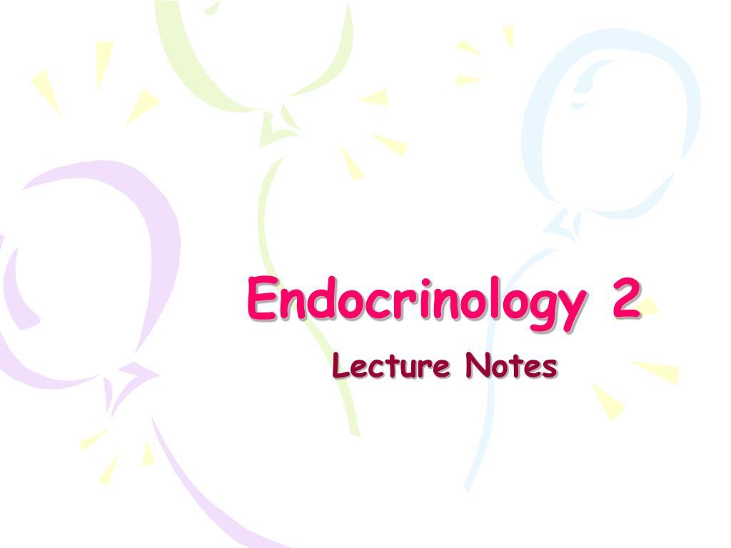 endocrinology 2 l.