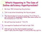 what s happening in the case of iodine deficiency hypothyroidism