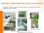 benefits of barcode kit improving productivity