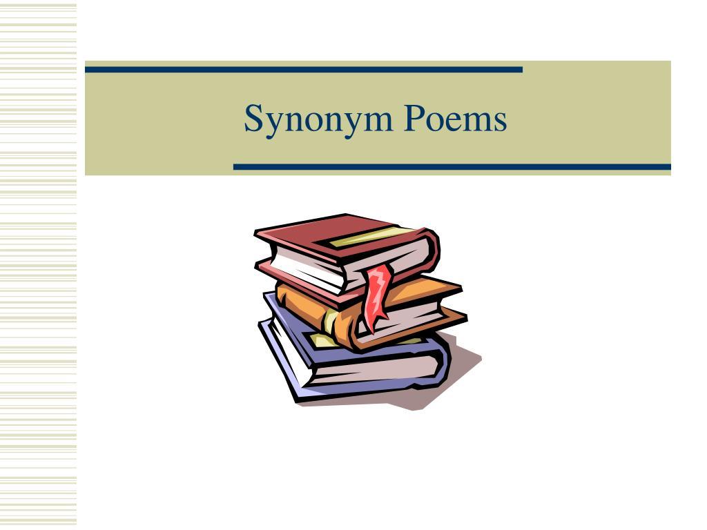 synonym poems l.