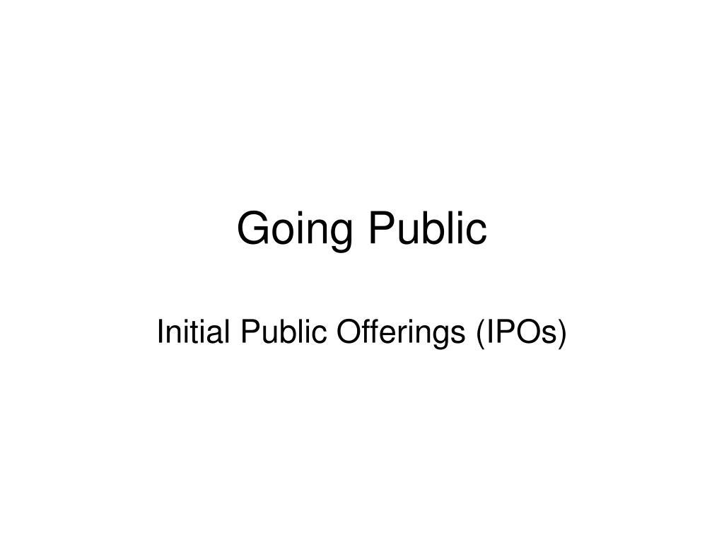 going public l.