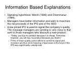information based explanations