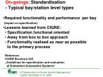 on goings standardisation typical bay station level types5