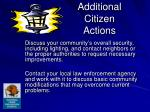 additional citizen actions