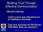 building trust through effective communication